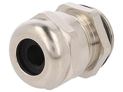 HUMMEL-1106160150 Cable gland M16 IP68 Mat brass Body plating nickel HUMMEL