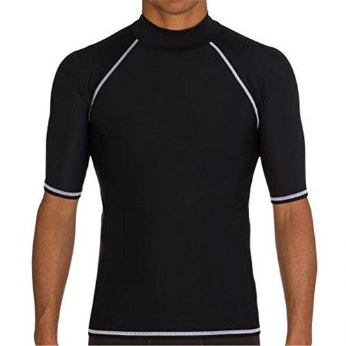 Fortuning's JDS® Protezione UV del bicchierino-manicotto nuoto maglietta protezione impetuosa per gli uomini
