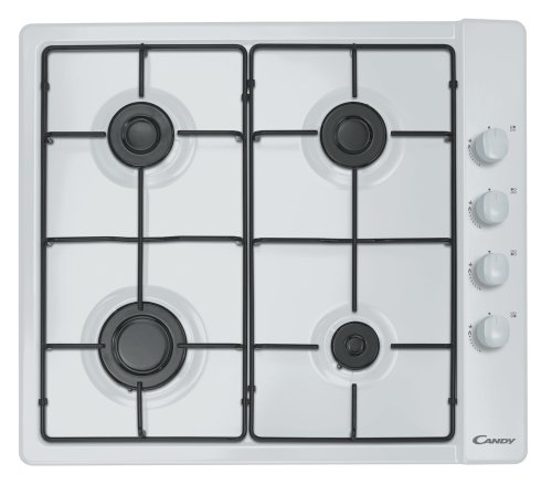 Candy CLG64SPB built-in Gas White hob - Hobs (Built-in, Gas, Stainless steel, White, 1000 W, 1700 W)