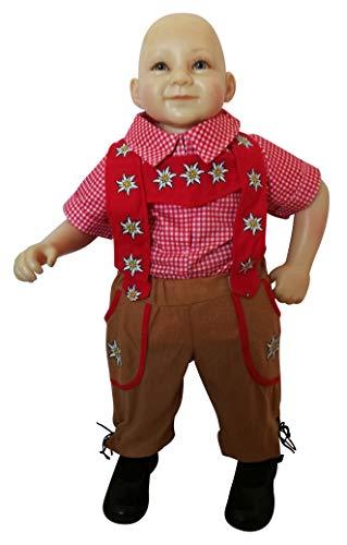 Oktoberfest-Kostüm Bayer, F120 Gr. 104-110, Kinder-Kostüm, traditionelles Bayern-Kostüm für Kinder, Fasching Karneval, Klein-Kind Karnevalskostüme, Kinder-Faschingskostüme, (Lederhosen Kostüm Mädchen)