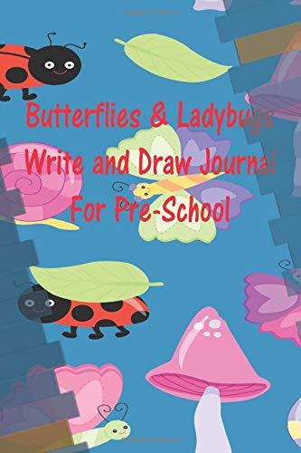 Butterflies & Ladybugs Write & Draw Journal For Pre-School Butterfly Meadow Box