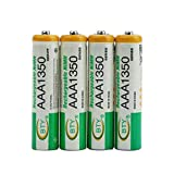 4 unids BTY 1.2 V AAA 3A 1350 mAh Capacidad Ni-MH Reemplazo de Batería Recargable para Juguetes RC...