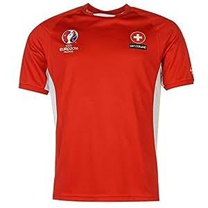UEFA Europameisterschaft 2016 T-Shirt Schweizer Fußballnationalmannschaft Polyester