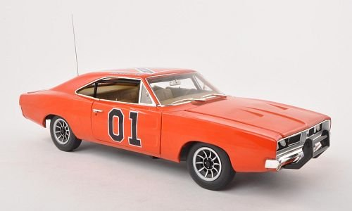Preisvergleich Produktbild Dodge Charger, No.01, General Lee, ''Dukes of Hazzard'' , 1969, Modellauto, Fertigmodell, ERTL American Muscle 1:18