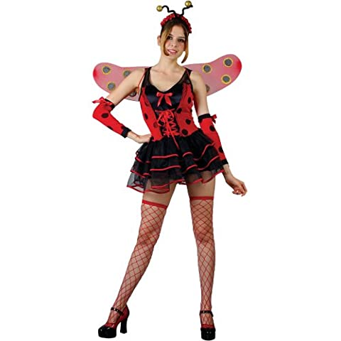 XL Ladies Lovely Ladybug Costume for Ladybird Fancy Dress