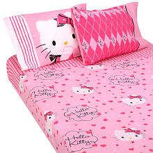 Hello Twin Sheet Set Kitty (Hello Kitty Sweet and Sassy Twin Sheet Set)