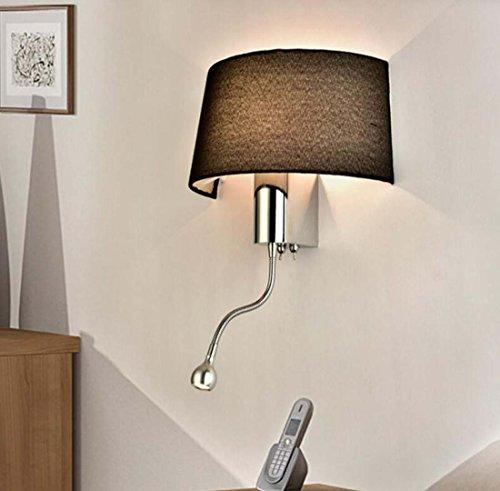Applique da parete a LED, lampada da parete semplice in tessuto di moda,  lampada da parete da comodino in camera da letto soggiorno camera  d\'albergo, ...