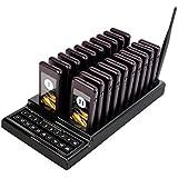 20llamada posavasos localizador y alarma sistema de restaurante localizador inalámbrico portátil recargable restaurante Buzzers Guest sistema zumbador de llamada sistema de Paginación con botones de llamada de teclado y Base de carga