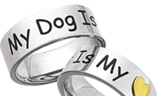 Ring - MY DOG IS MY LOVE - 100% 925 Sterling Silber - Exklusiv Schmuck von Dogs Stars