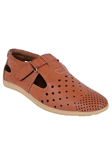 WOAKERS Brown Synthetic Leather Men's Sandal