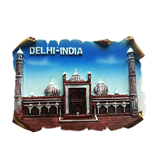 3D New Delhi Indien Souvenir Kühlschrank Magnet, Home & Küche Dekoration New Delhi Indien Kühlschrank Magnet