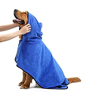 Tie-langxian-Pet-Bathrobe-Dog-Bathrobe-Dog-Bathrobe-Adjustable-Microfiber-Pet-RobeFast-Dry-Pet-Bath-Towel