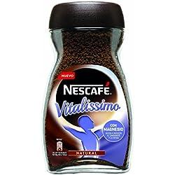 NESCAFÉ Vitalissimo Café Soluble Natural | Bote de cristal | Paquete de 3 x 200 g - Total 600 g