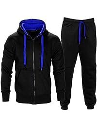Contraste enfants Cord Toison Full Zip Up Hoodie Survêtement Gym Jogging Suit Joggers