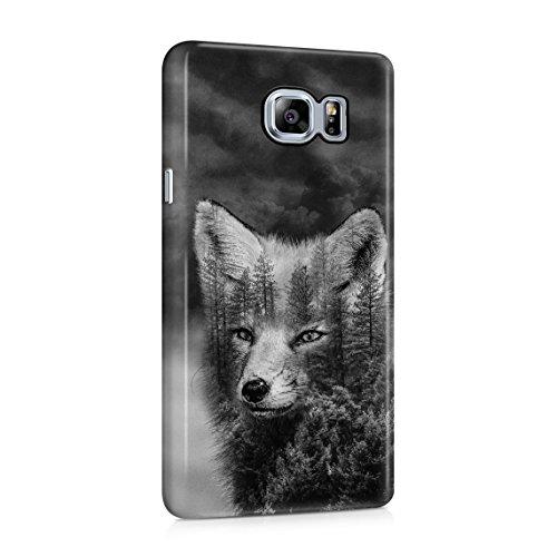 Wild Life Foxy Forest Schwarze Rauchwolke Tumblr Dünne Rückschale aus Hartplastik für Samsung Galaxy Note 5 Handy Hülle Schutzhülle Slim Fit Case Cover - Foxy Hipster