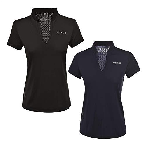 Pikeur Damen Funktions Polo Shirt Henna Damenshirt, T-Shirt Größe 44, Farbe schwarz