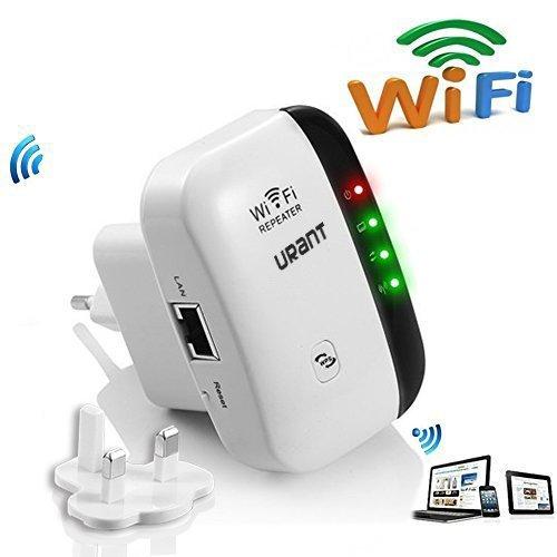 Urant Extensor de red WiFi 300Mbps Mini Wireless Extensor de Rango Ina