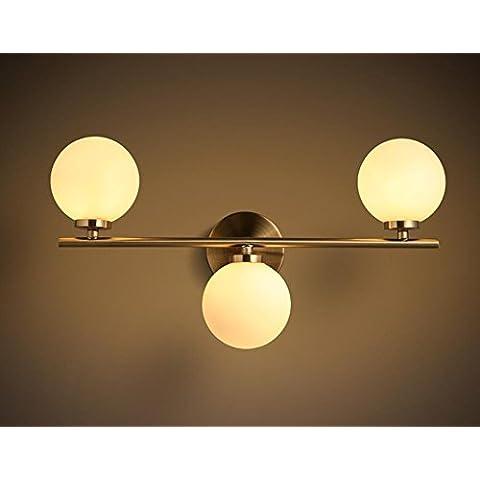 FWEF Lámpara De Pared Frijoles Mágicos Hierro Luz Delantera De Espejo Llevado Moderna Sala De Estar Ala Del Balcón Europea Escaleras Lámparas De Bola Creativas