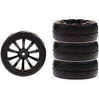 Baoblade 1/10 RC Neumáticos de Automóviles Planos Color Negro para RC Coche Traxxas HSP HPI