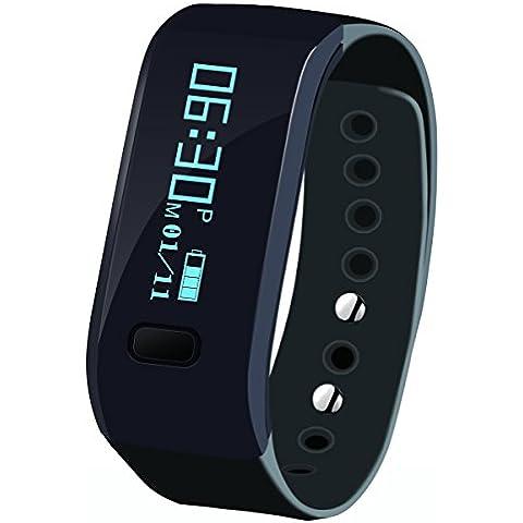 megadream® Deportes desmontable Bluetooth 4.0 Inteligente Muñequera Band pulsera inteligente reloj recordatorio de llamadas Sleep Salud Monitor Fitness Tracker banda de actividad podómetro para Android, iOS teléfono, disponible en 3 colores, 0.22 pounds, color