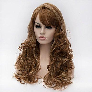 HJL-Europa und die Vereinigten Staaten die neuen hellbraune lockige Haare Perücke ms Highlights , light auburn (Erweiterungen Remy-haar-highlight)