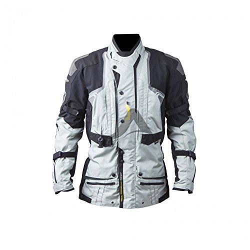 Preisvergleich Produktbild Helite Textiljacke Touring B grau schwarz mit Turtle Airbagsystem,  4XL