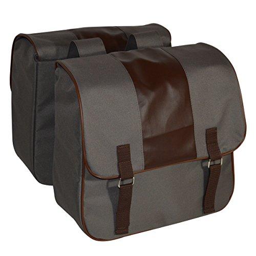 C-BAGS ELEGANCE double CLASSIC Gepäckträger Fahrrad Tasche verschiedene Muster capuccino