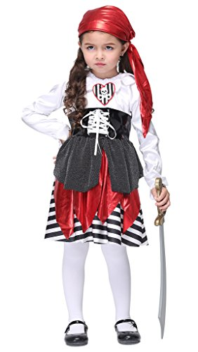 Smile YKK Déguisement Fille Soie Imité Cosplay Costume Pirate Voleur Halloween Accessories Buste 68cm