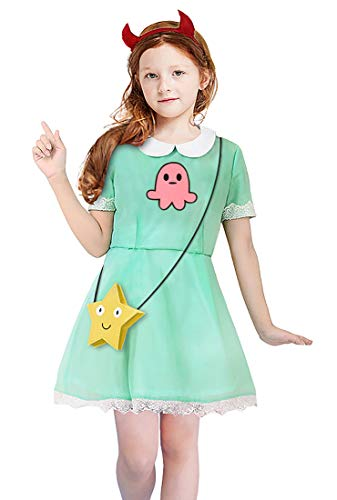 Gift4Fever Star gegen die Mächte des Bösen Kinder Kostüm für Mädchen Größe: 130 (Kostüm Mädchen Bösen)