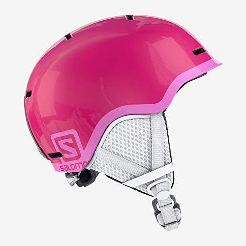 Casque de ski et snowboard pour enfant Salomon, In-Mold bowl + Coque intérieure en EPS, Taille M, Tour de tête 53-56 cm, Grom, Rose (Glossy Pink), L39914900