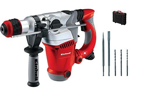 Einhell Bohrhammer RT-RH 32 (1250 W, 3,5 J, Bohrleistung Ø 32 mm, SDS-Plus-Aufnahme, Metall-Tiefenanschlag, 3 Bohrer, 2 Meißel, Koffer) Test