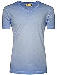 Signum Herren T-Shirt mit V-Ausschnitt I 100% Baumwolle I Mehrere Farben I Größen S - XXXL (Übergröße)