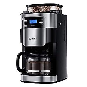 Barsetto Kaffeemaschine mit Mahlwerk 10 Tassen Filterkaffeemaschine Mahlen...