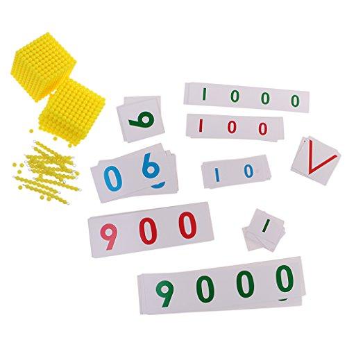 MagiDeal Jeu Educatif Enfants Montessori Perles Carte Numérique Kit Jouets de Calcul Ecole Famille Exercice Mathématiques 714bfc89-a821-4be4-95e1-a7315cf88474