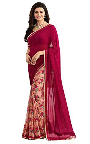 Shivalika Tex Women's Georgette Heavy Embroidery Sarees