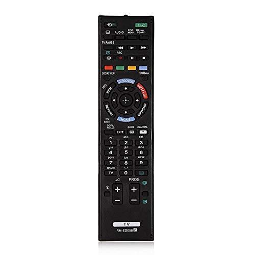 Universal-Ersatz- & Backup-TV-Fernbedienung für Sony RM-ED058 TV für Haushaltsfernsehzubehör - Schwarz