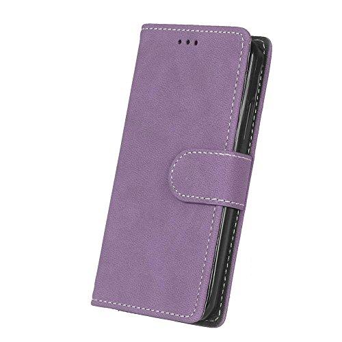 Solid Color Premium PU-Leder Tasche Cover matt Retro Flip-Ständer Case Wallet Fall mit Kartensteckplätze Photo Frames für Nokia Microsoft Lumia 550 ( Color : 1 , Size : Nokia Microsoft Lumia 550 ) 8
