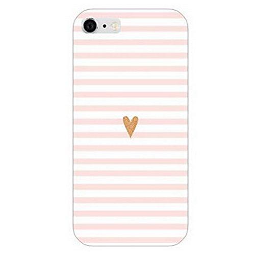Inonler Die liebe und der zebra - streifen Mädchen hülle ()(iPhone 5/5S/SE,Pink) (Se-streifen)