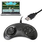 jimtw-fr Gamepad cablato USB classica 6Pulsanti controller di gioco maniglia Joypad per sega MD2