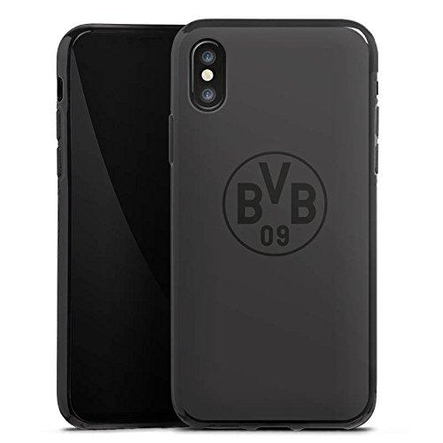 Apple iPhone 6 Hülle Case Handyhülle Borussia Dortmund BVB Logo grau Silikon Case schwarz