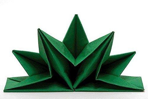 serviettes-venezia-couleur-vert-pre-plie-contenu-par-contenu-12-forme-detoile-decoration-de-table-de