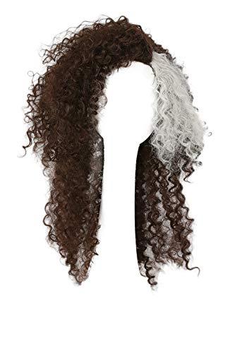 Mesky Bellatrix Lestrange Perücke Damen Cosplay Wig Lang Lockig Braun Kostüm Zzubehör mit Haarnetz (Harry Potter Halloween Kostüme Einfach)