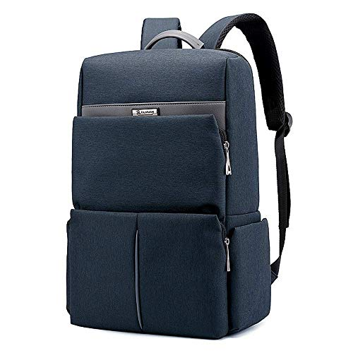 School Business Backpack Classic Unisex Backpack for 15.6 Inch Laptop Daypack (Color : Blue) 15,6-zoll-computer