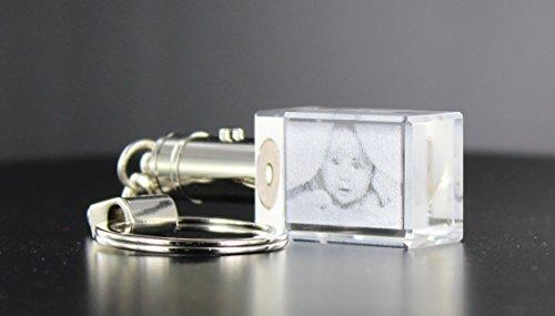 VIP-LASER 2D LED-Schlüsselanhänger mit Deinem Wunsch-Foto graviert