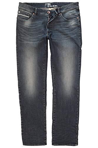JP 1880 Herren große Größen bis 66, Vintage-Jeans, Hose mit Wasch- und Knittereffekten, 5-Pocket, Loose Fit darkblue 32 716791 93-32