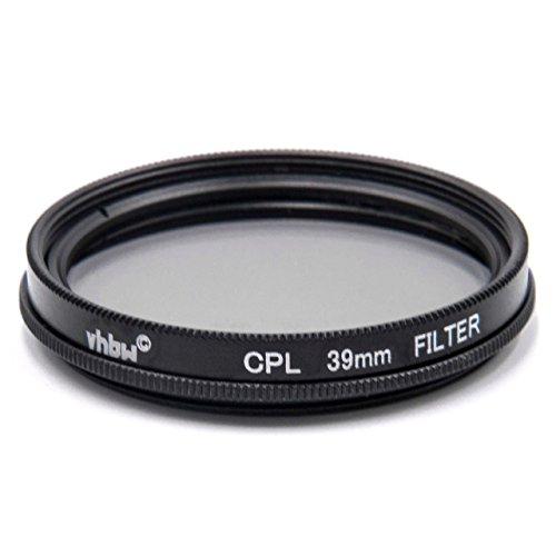 vhbw Universal CPL-Pol-Filter 39mm für Kamera Canon Casio Pentax Olympus Panasonic Sony Nikon Ricoh Sigma Tamron Samsung Fujifilm Agfa Minolta Kodak.