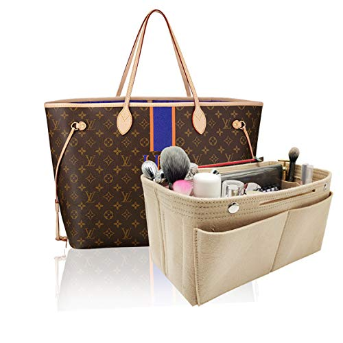 LEXSION Damen Filz-Geldbeutel-organisator, Multi Pocket Bag in Bag Organizer für Tote & Handbag Shaper mittel rot - Gucci Messen