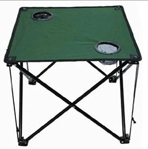 RUNDESHEBEI Y & M Bâche extérieur Pliable Pieds Table Portable Table ou Pique-Nique Plage de Stand de Table Patio Une Petite Table carrée Vert armée