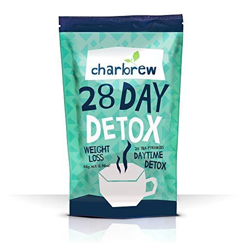 Charbrew Tagsüber Tea Detox 28 Tage Körper-Detox-Tee-Behandlung - 100% natürliche Teemischung - Fett verbrennen, Gewicht verlieren Tee, Gewicht verlieren