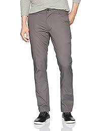 Louis Raphael Men's Skinny Fit Flat Front Stretch Ottoman Cotton Pant